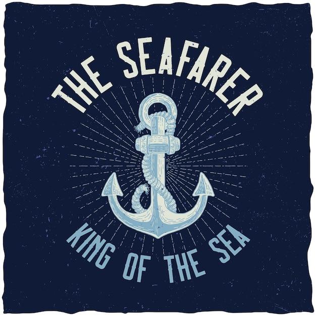 Король моря плакат Бесплатные векторы