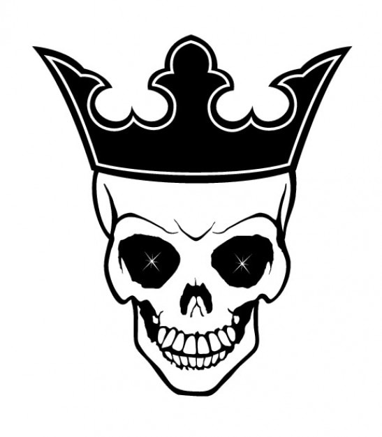King skull with crown Free Vector