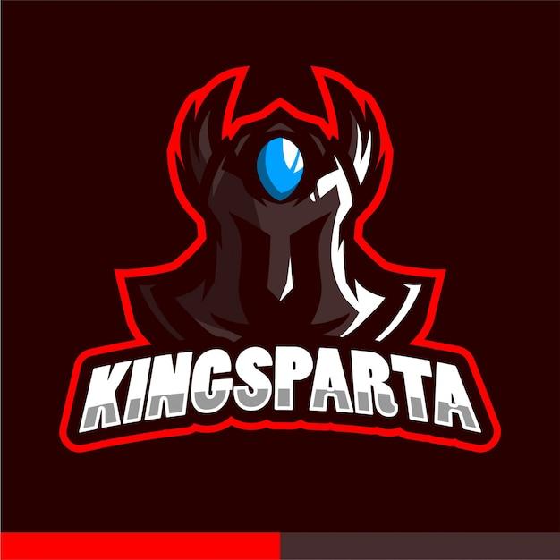 King sparta mascot logo Premium Vector