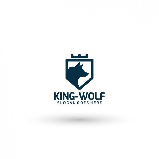King Wolf Logo Template