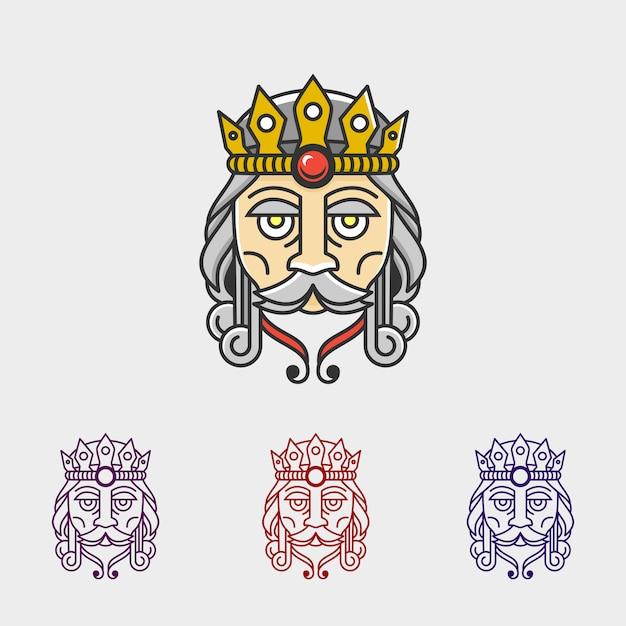 Kinglaw logo Premium Vector