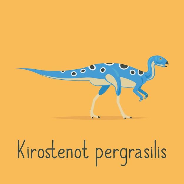 Kirostenot pergrasilis恐竜カラフルなカード Premiumベクター
