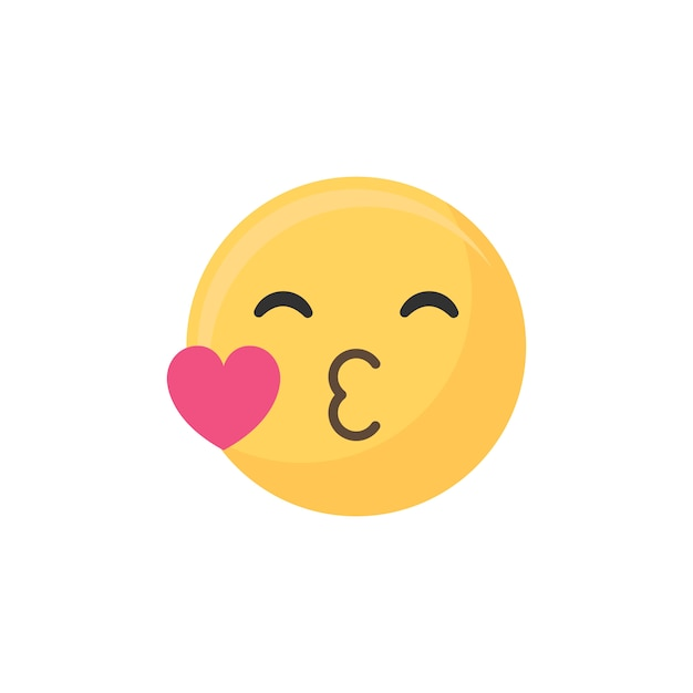 Kiss emoji Free Vector