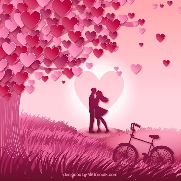 بوسیدن زن و شوهر در علفزار