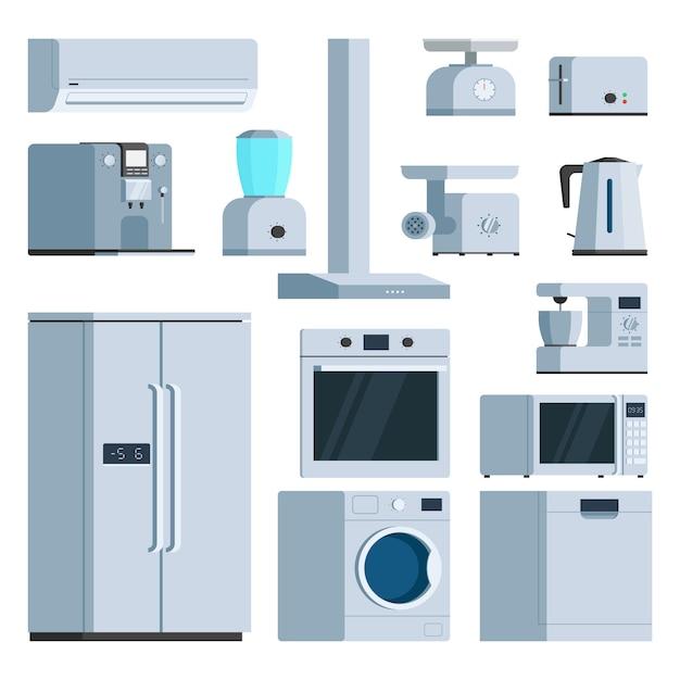Kitchen appliance set Premium Vector