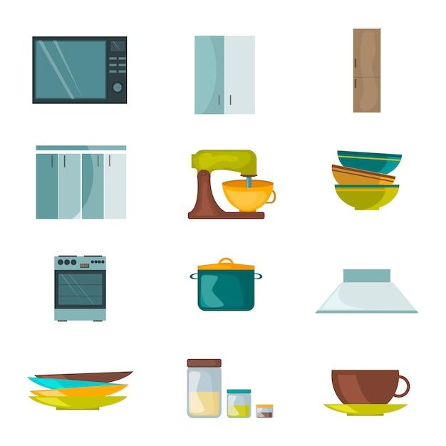 Kitchen appliances Premium Vector