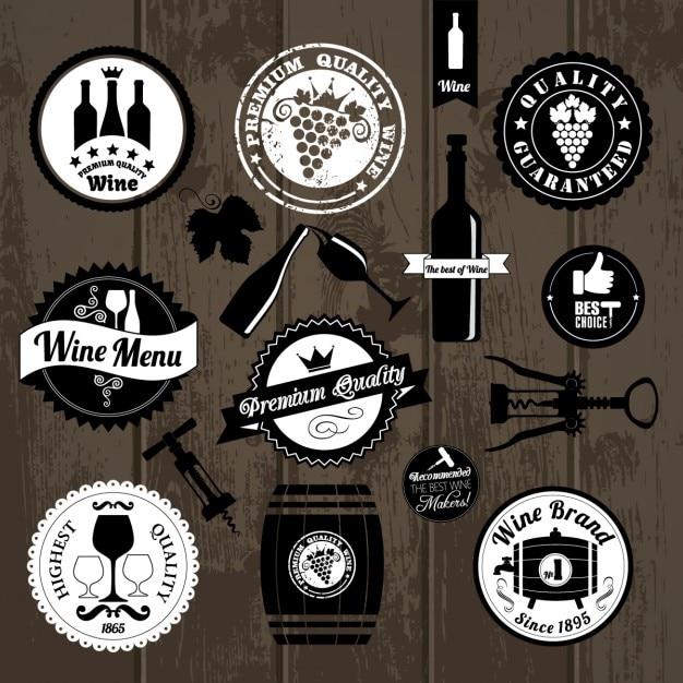 Kitchen badges on wood