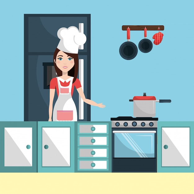 Kitchen and cooking Free Vector