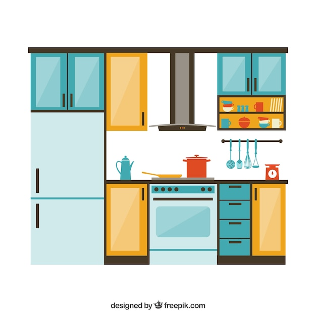 kitchen furniture vector free download