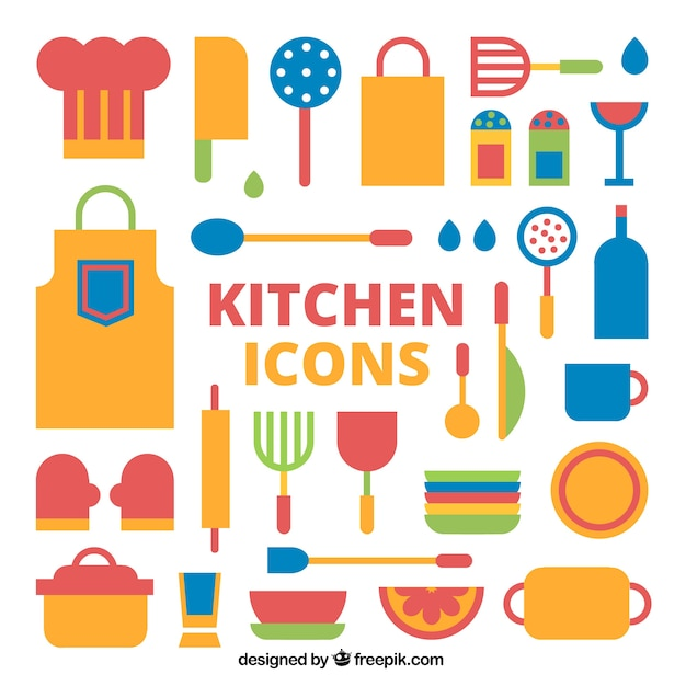 Colorful Kitchen Tools Design