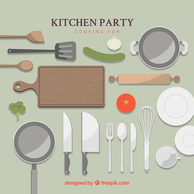 Kitchen party Free Vector