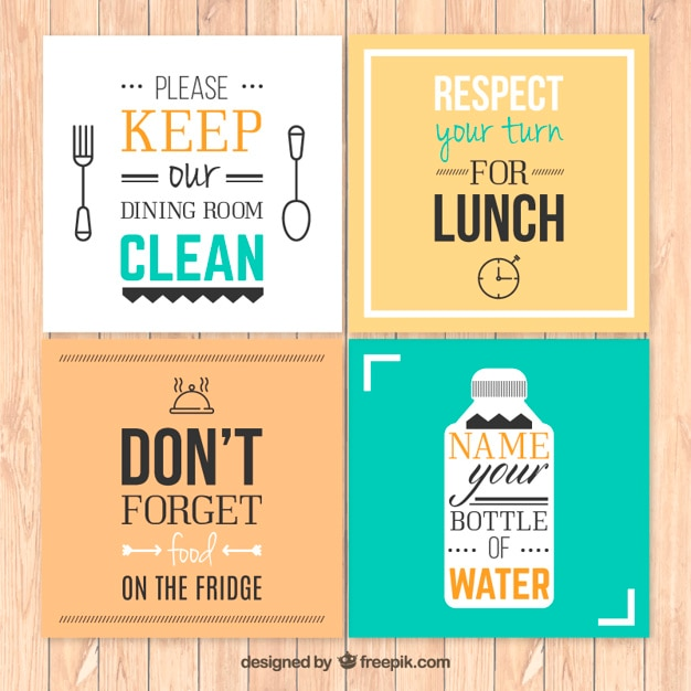 Kitchen Rules Posters Free Vector