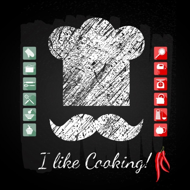 آشپزخانه مجموعه آیکون آشپز ارشد