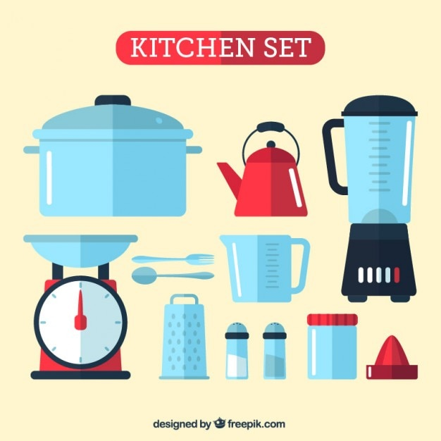 kitchen set vector free download