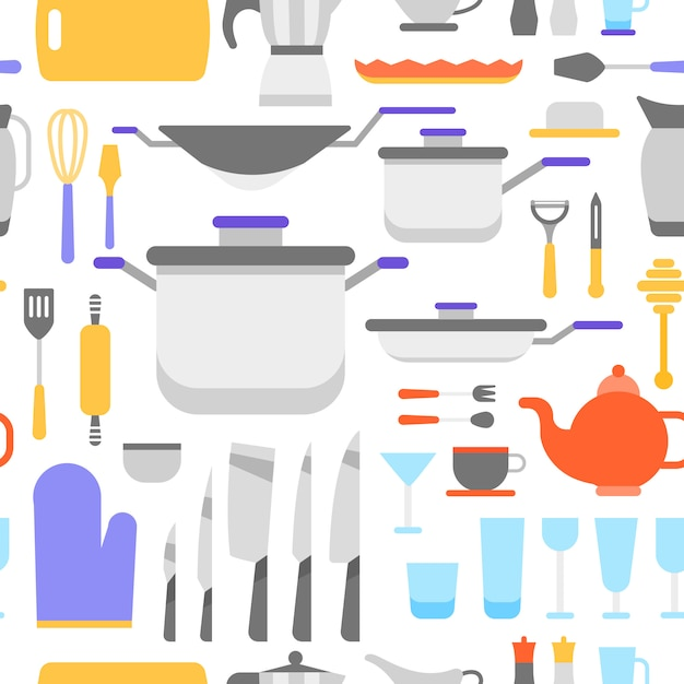 Kitchen tools collection Free Vector