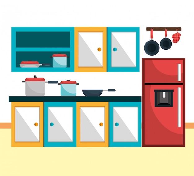 Кухонная утварь и посуда Бесплатные векторы