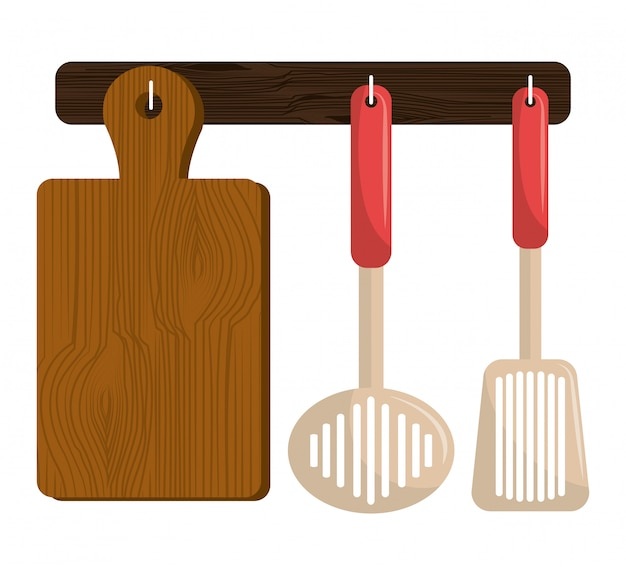 Kitchen utensils and dishware Free Vector