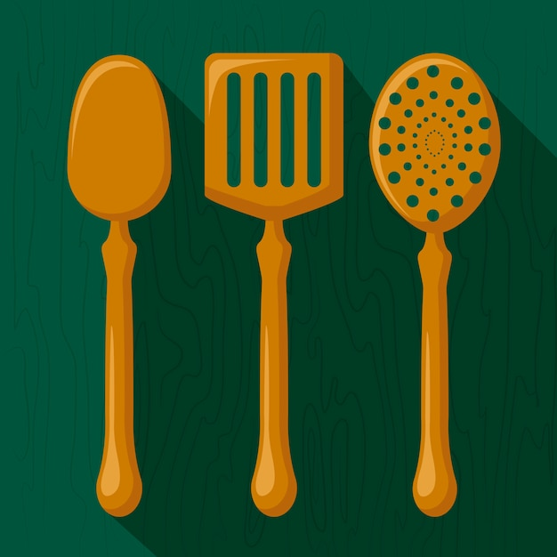 Kitchen utensils Free Vector