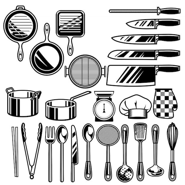 Kitchen ware collection Premium Vector