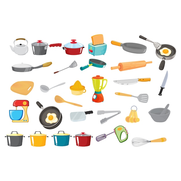 Kitchenware collection Free Vector