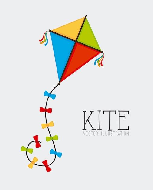 Kite design Premium Vector
