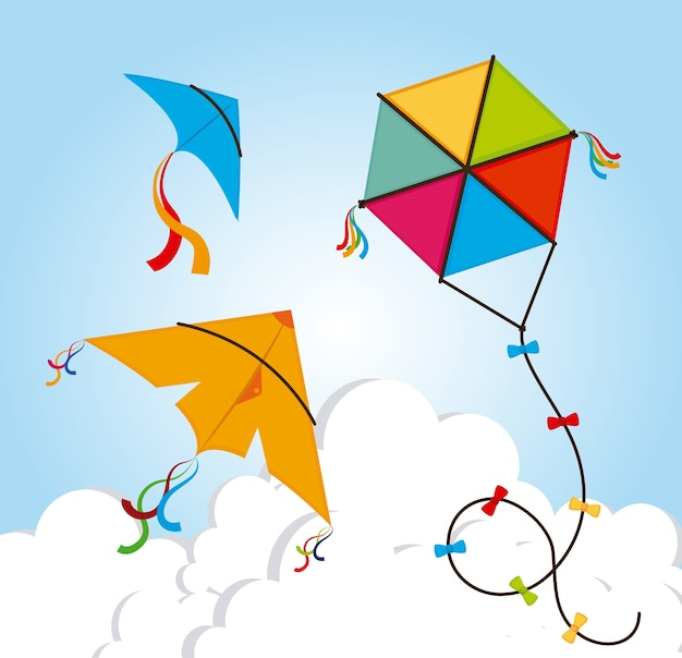 Kite design Premium Vector