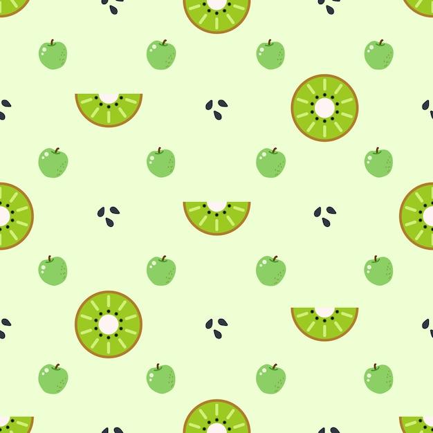 Kiwi pattern background Free Vector