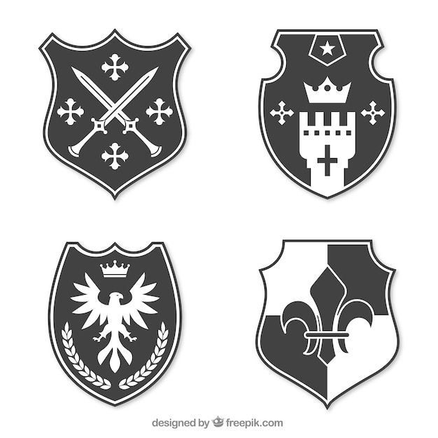 knight emblem design collection vector free download