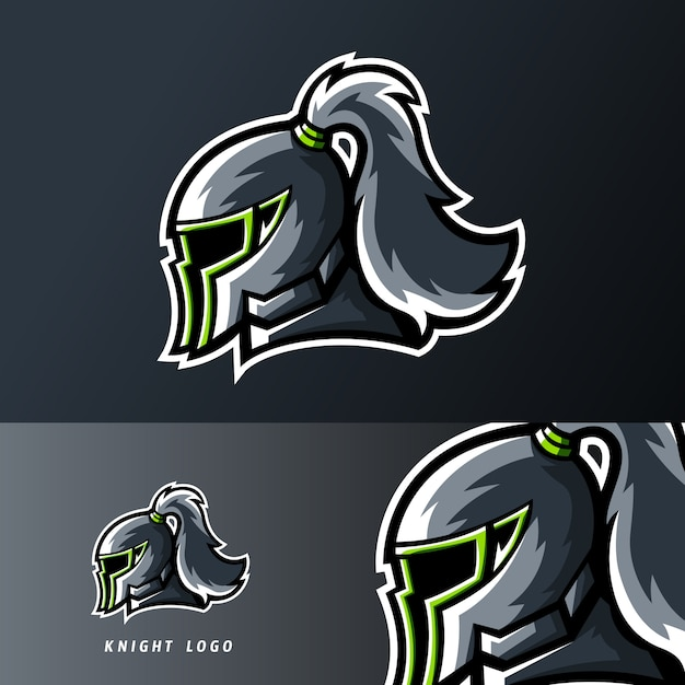 Knight kingdom sport or esport gaming mascot logo Premium Vector