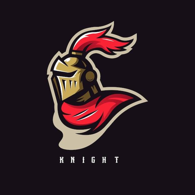 騎士のマスコットロゴ Premiumベクター