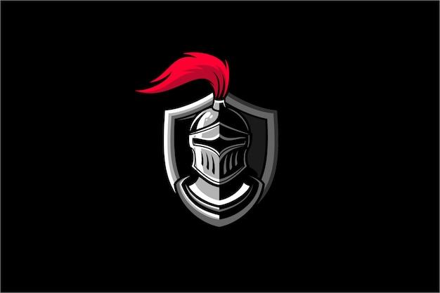 Knight warrior logo illustration Premium Vector