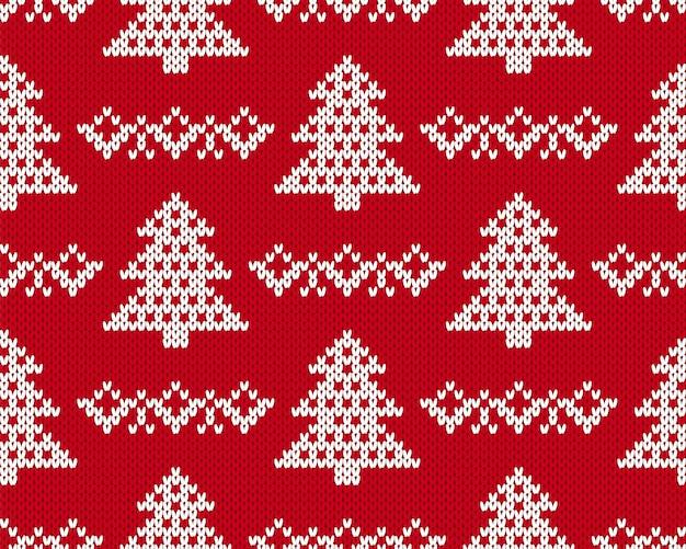 Вяжем рождественский узор. Premium векторы
