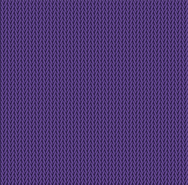 Knit texture purple color. vector seamless pattern fabric. knitting background flat design. Premium Vector