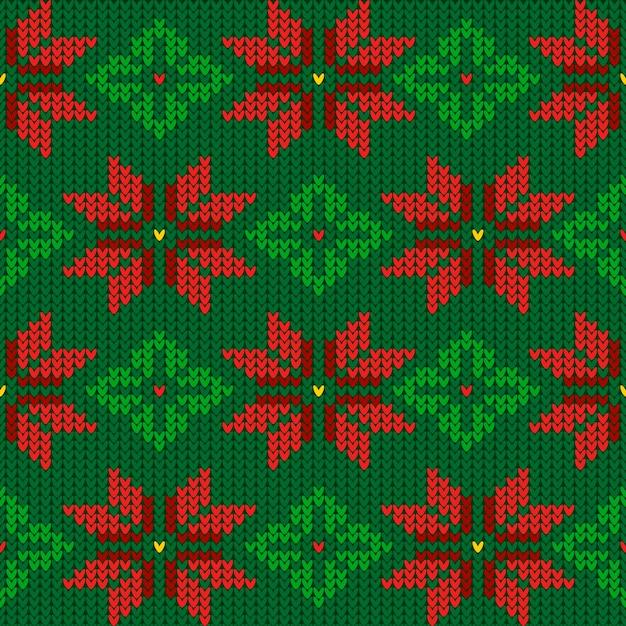 ニットのクリスマスパターンテンプレート 無料ベクター