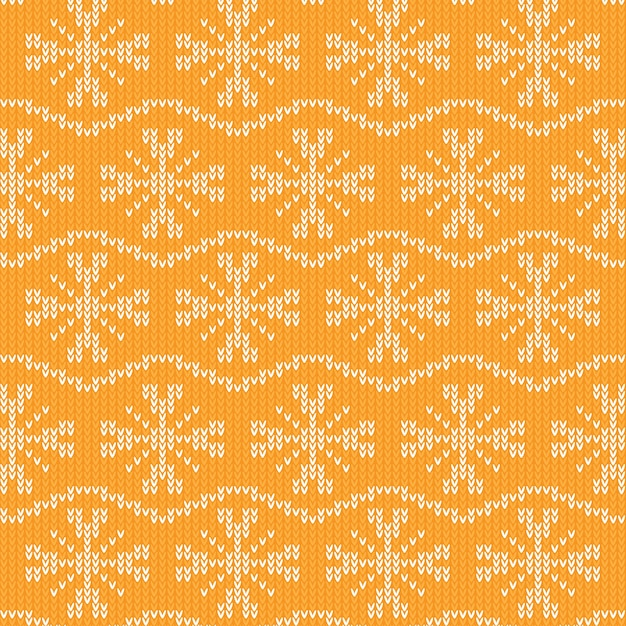Knitted pattern texture design Premium Vector