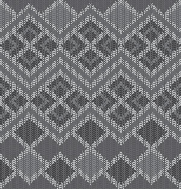 Knitted pattern texture design Premium Vector