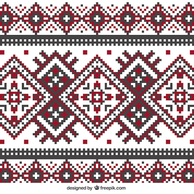 knitting pattern in geometric style Free Vector