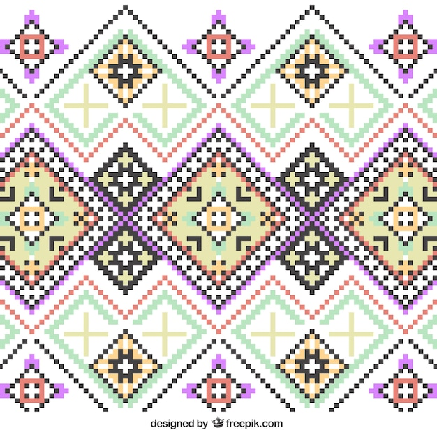 Knitting Vector Patterns : Knitting pattern vector free download