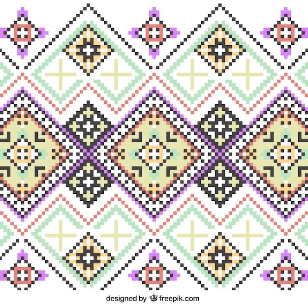 Knitting pattern Free Vector