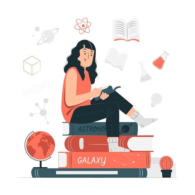 Illustrazione del concetto di conoscenza Vettore gratuito