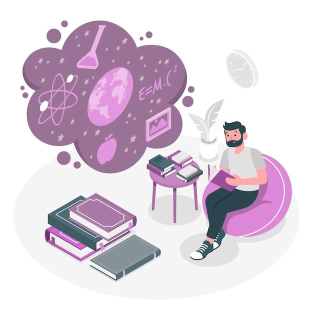 Иллюстрация концепции знаний Бесплатные векторы