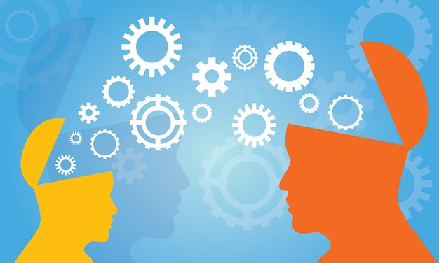 Концепция передачи знаний | Премиум векторы
