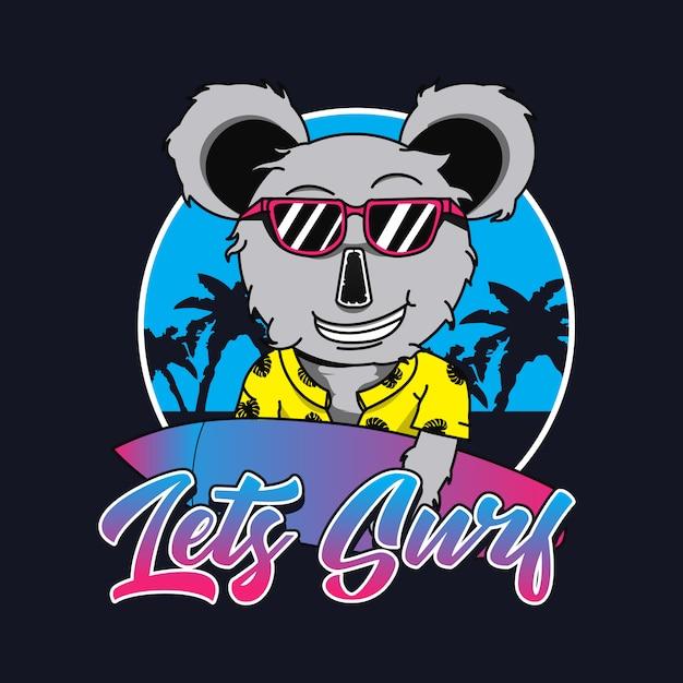 Koala logo for t shirt Premium Vector