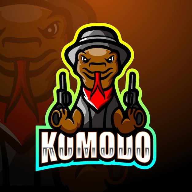 Komodo mafia mascot esport logo illustration Premium Vector