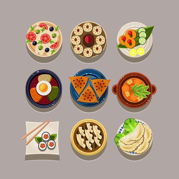 Korean food Premium Vector