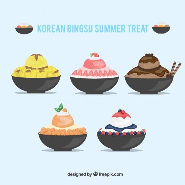 Ice Cream Free Vector Download 980 Free Vector For: Korean Ice Cream Collection Vector
