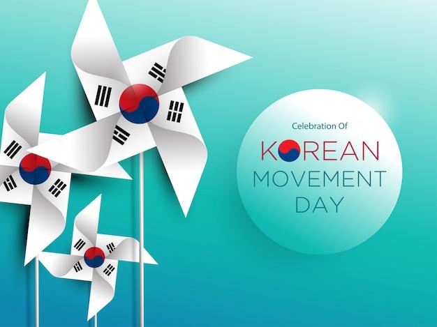 Korean movement day Premium Vector