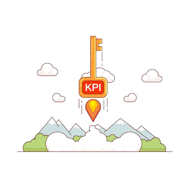 KPI growth concept Free Vector