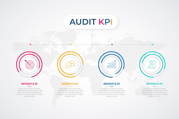 Kpiインフォグラフィック Premiumベクター