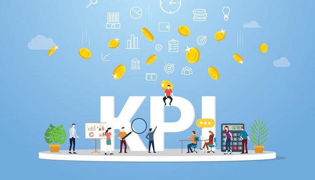 Kpiの重要業績評価指標の概念 Premiumベクター